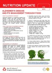 July 2016 (Issue 2) : Alzheimer's Disease and its Management through Food