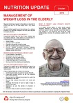 October 2016 (Issue 1) :  Management of Weight Loss in the Elderly