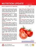 September 2017 (Issue 1) : Health Benefits of Tomatoes by Aga Khan University Hospital, Karachi