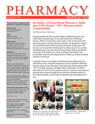 Pharmacy Newsletter | Publications | Aga Khan University