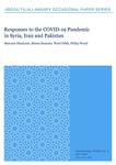 Responses to the COVID-19 Pandemic in Syria, Iran and Pakistan by Maryam Ghadyani, Hinna Hussain, Wael Odeh, and Philip Wood